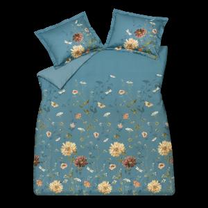 wild flower storm blue dekbedovertrek
